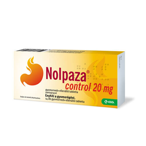 NOLPAZA CONTROL 20MG GYOMORNEDV ELLENÁLLÓ TABLETTA 14X